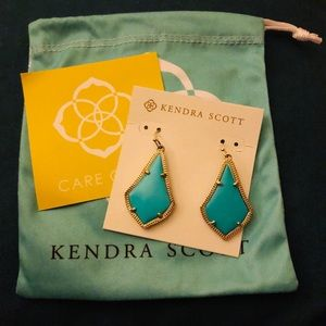 Kendra Scott Addie turquoise earrings - like new